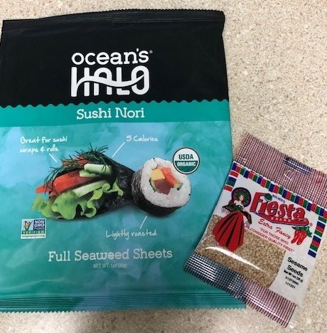 nori sheets sesame seeds california roll