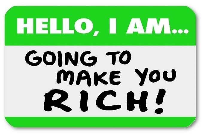 Nametag - Hello I Am Going to Make You Rich!