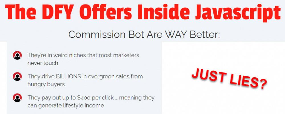 javascript commission bot sales page lies