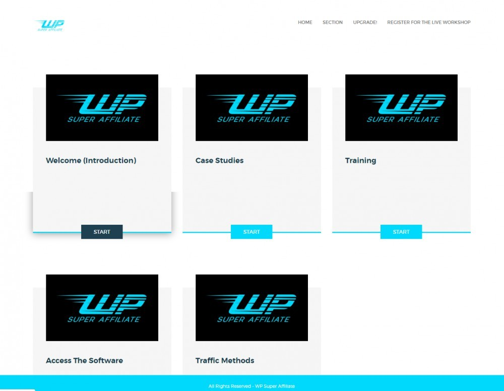 WP super affiliate members area