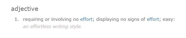 effortless meaning