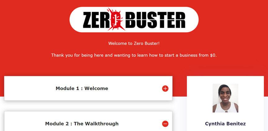 zero buster members area