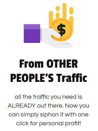 sales page image talking about other peoples traffic
