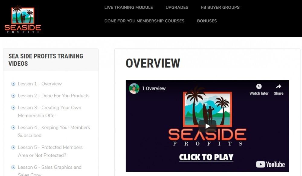seaside profits members area