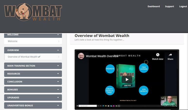 wombat wealth members area
