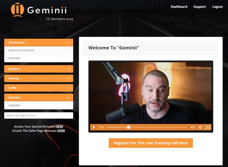 geminii members area