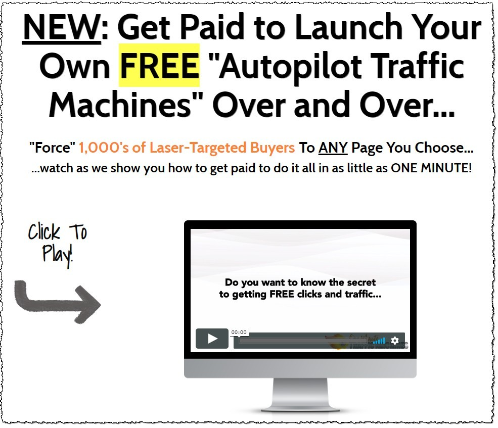one minute traffic machines sales page headline