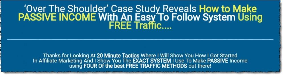 20 minute tactics sales headline