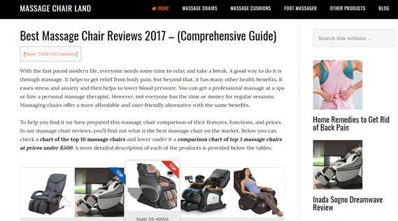 massage chair land