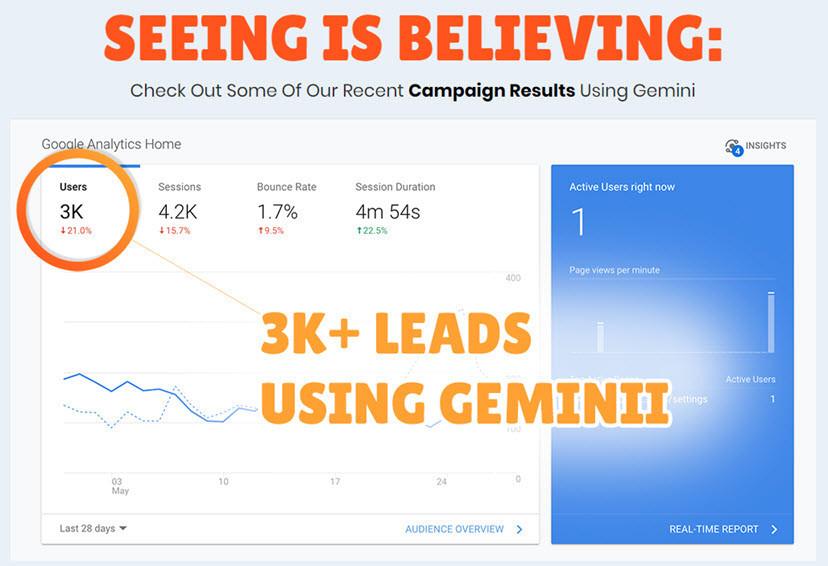 Geminii campaign results