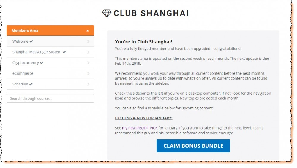 club shanghai members area