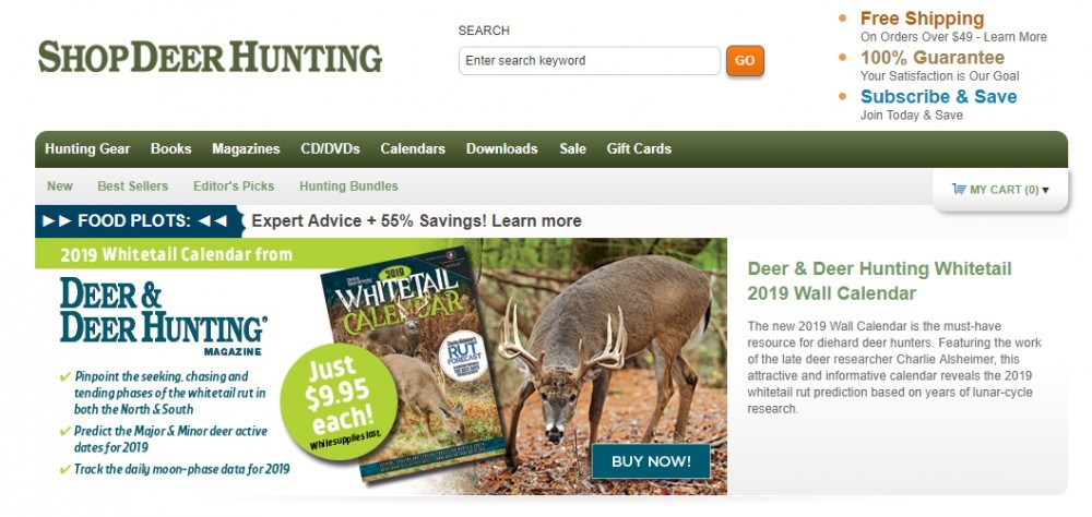 shop deer hunting home page