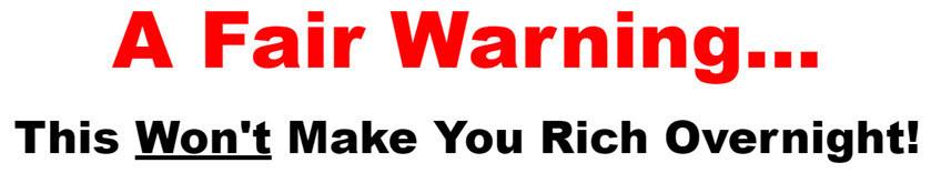 sales page warning
