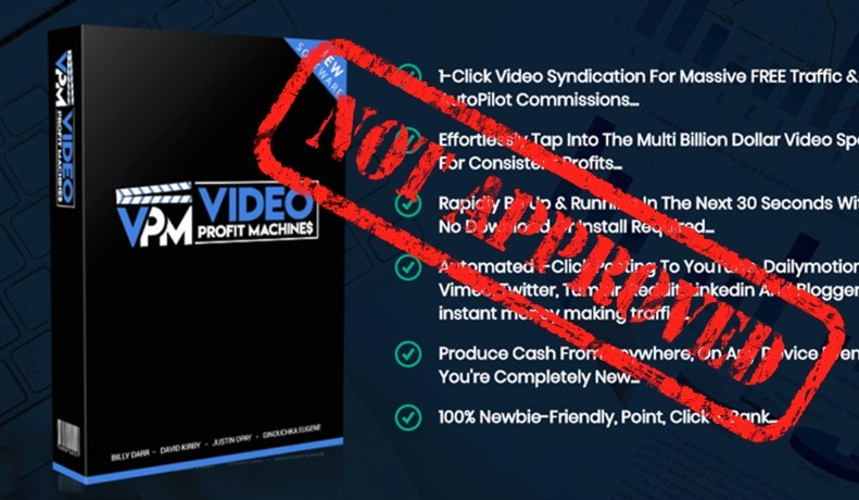 video profit machines not approved