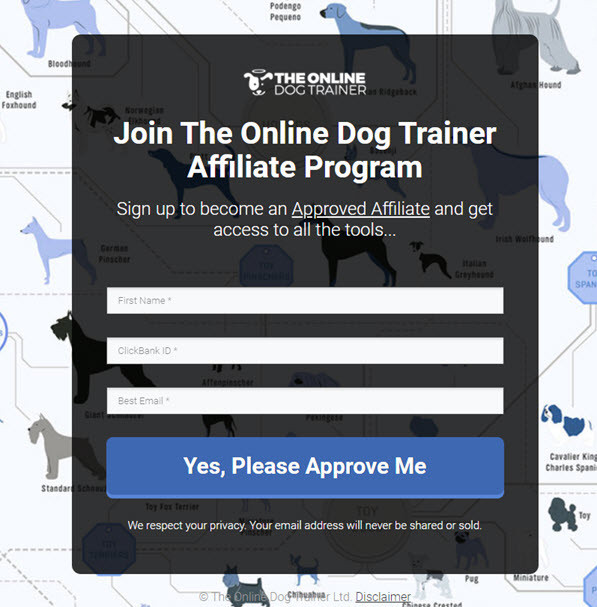The Online Dog Trainer affiliate program