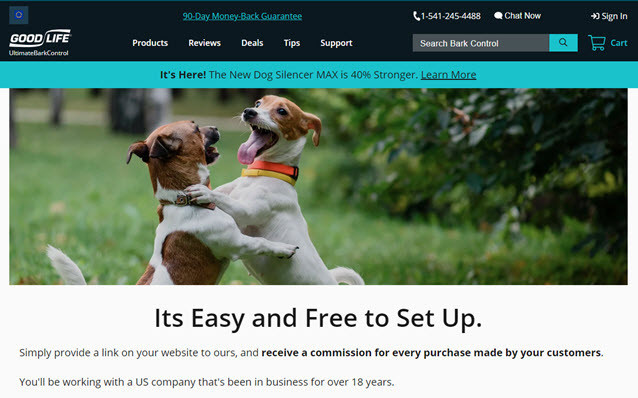 good life ultimate bark control affiliate program