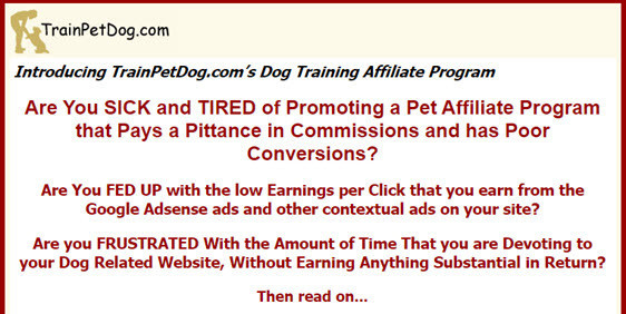 train pet dog affiliate program
