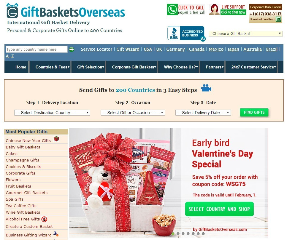 gift basket overseas affiliate program