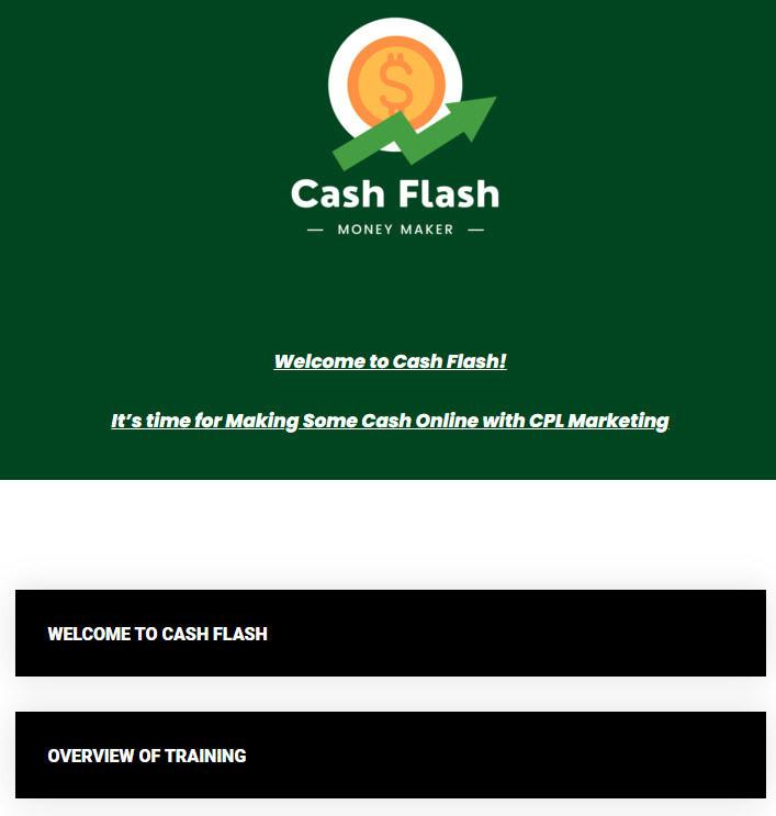cash flash members area