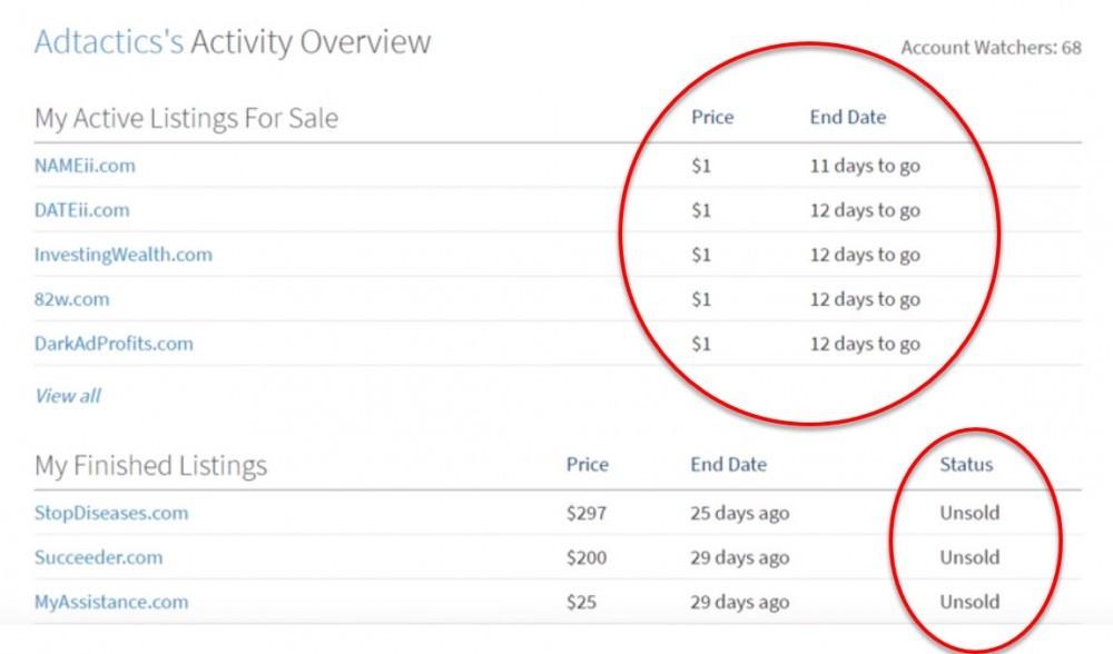 flippa listings