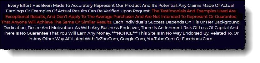 video profit machines disclaimer