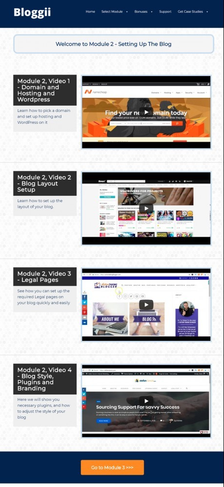 bloggii training dashboard