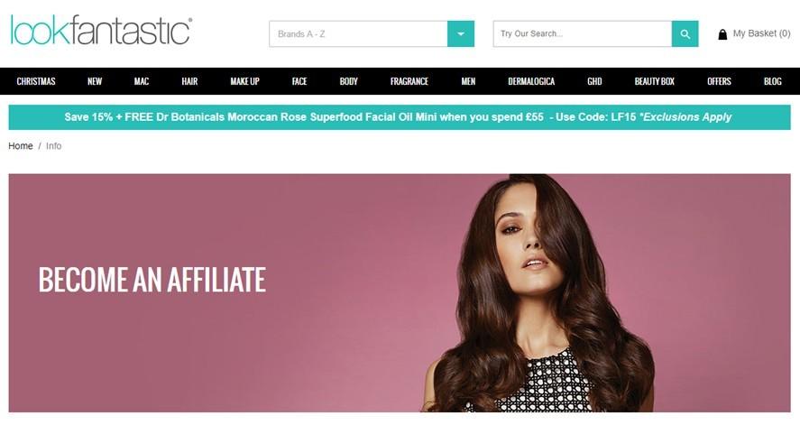 Look Fantastic affiliate program
