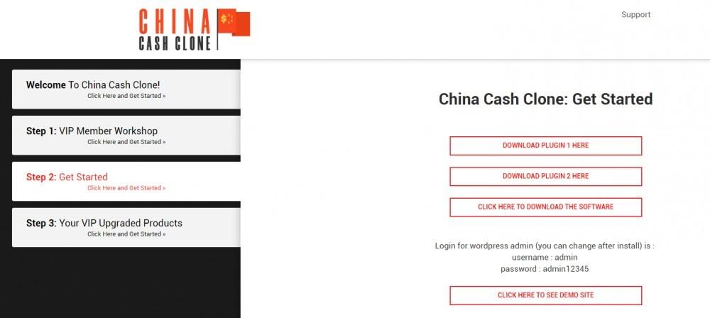 china cash clone members area