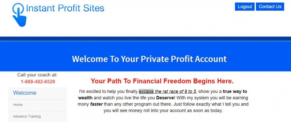 your dream websites members area