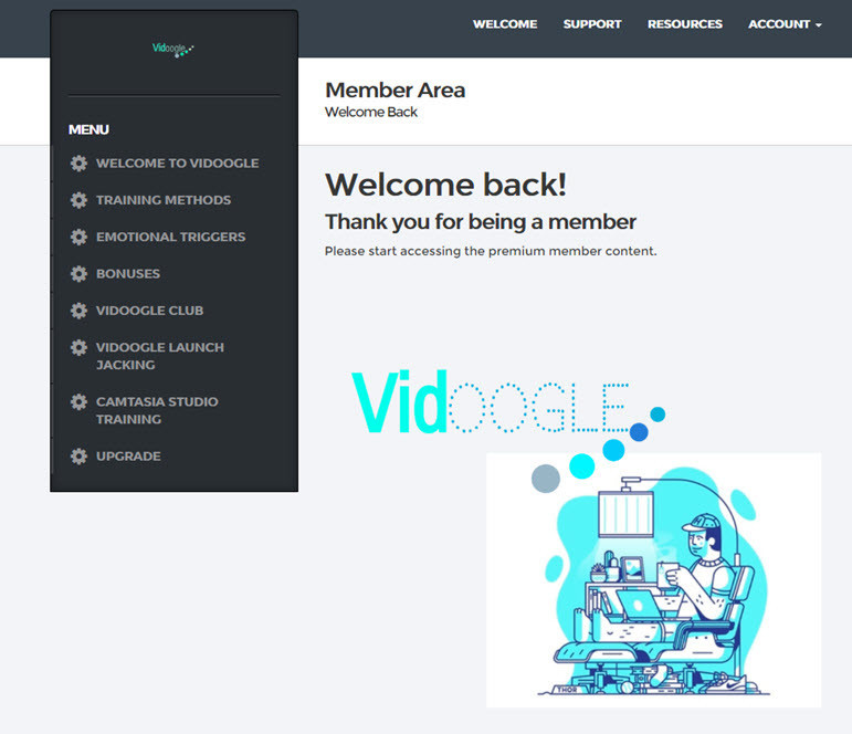 vidoogle members area