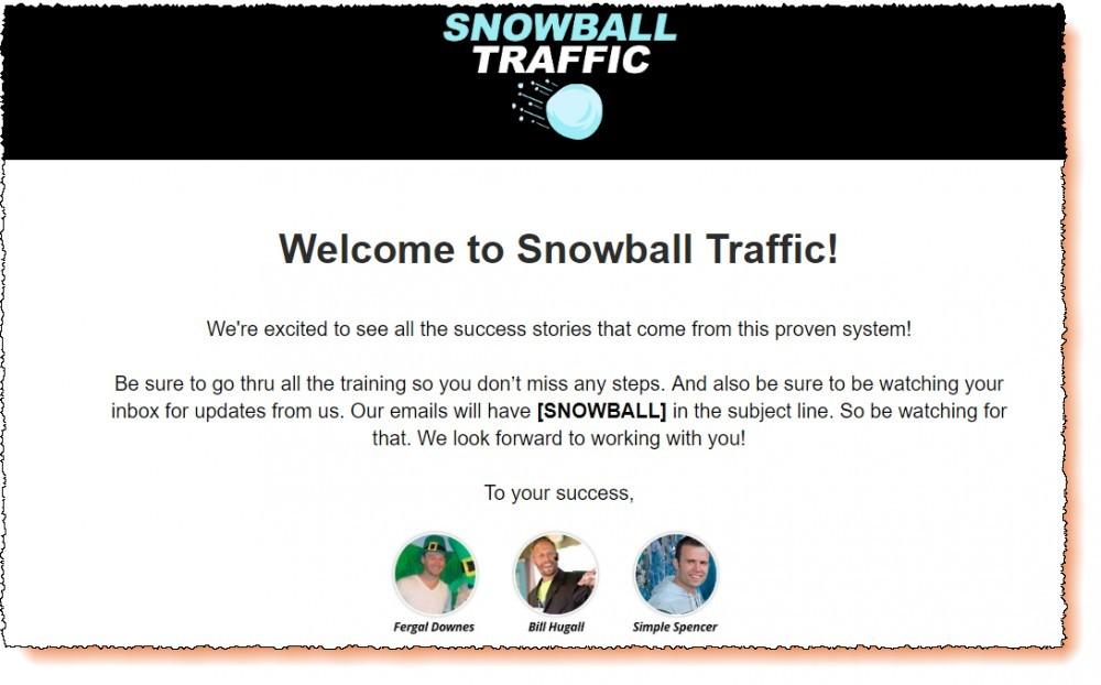 snowball traffic members area