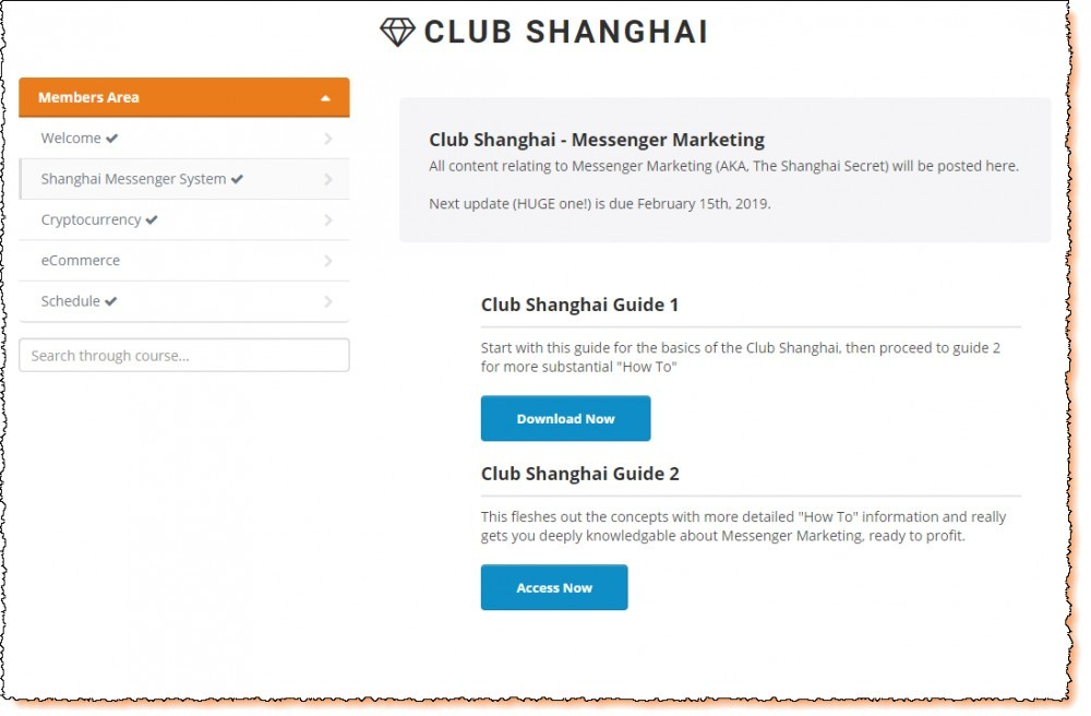 shanghai club members area