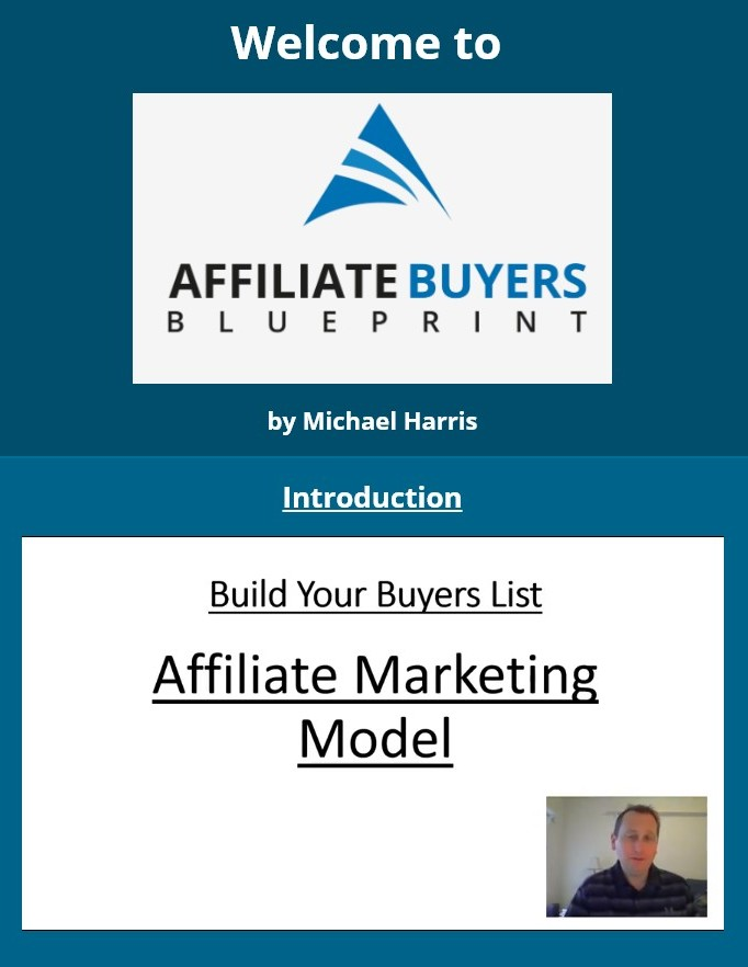 affiliate buyers blueprint members area
