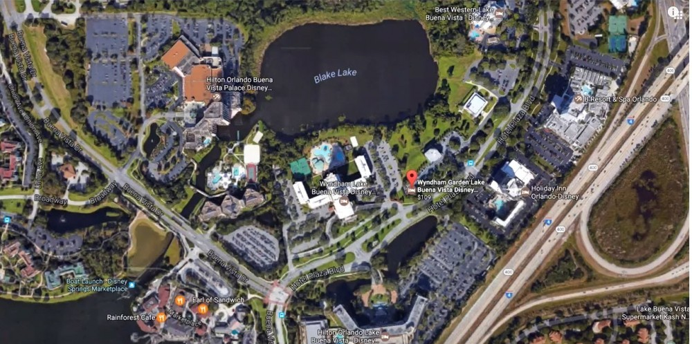 map of hotels close to disney
