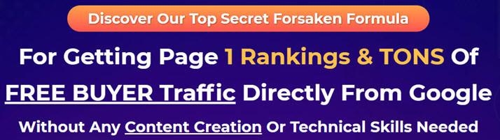 forsaken traffic sales page headline