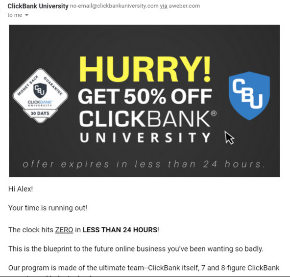 ClickBank University Discount