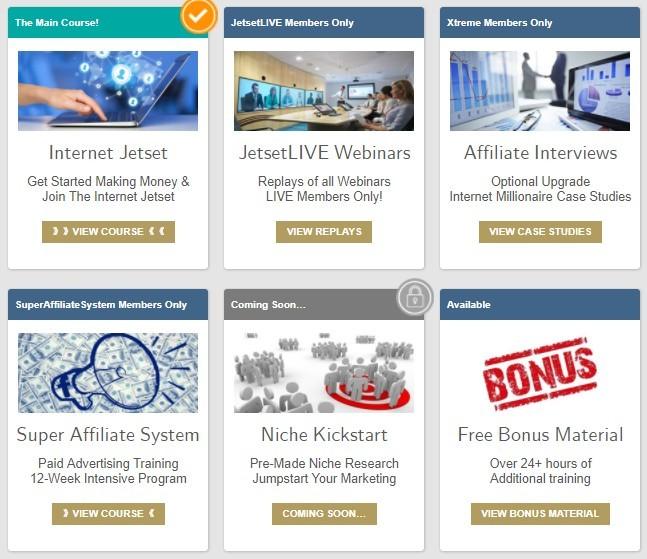internet jetset IJ courses