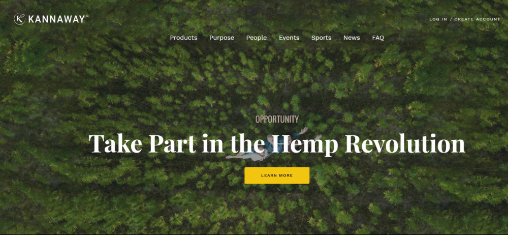 Kannaway official website homepage image of a thick forest