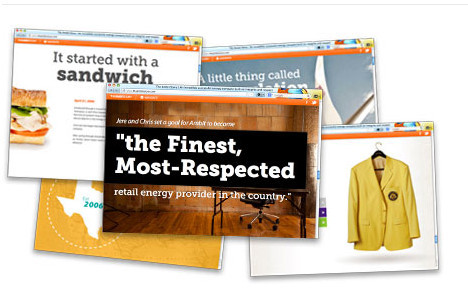 Ambit energy showing superimposed images with words 'the finest, most-respected retail energy provider in the country'