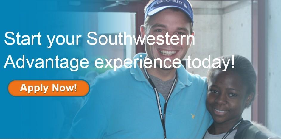 White teacher berside black student with inscription: satrt your Southwestern Advantage experience today!