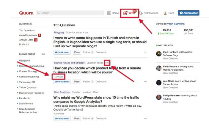 most popular recent Quora questions