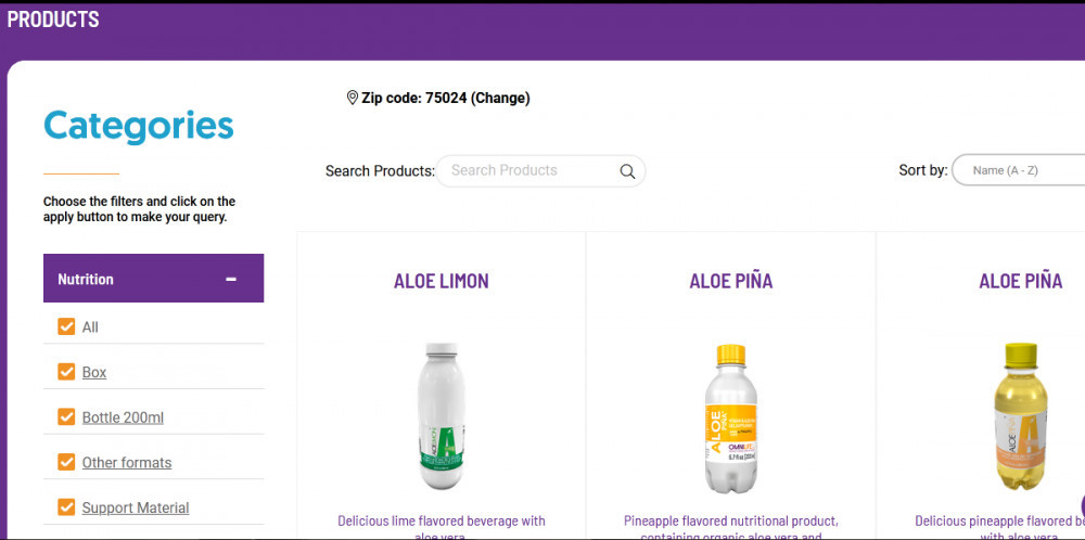 Omnilife products categories