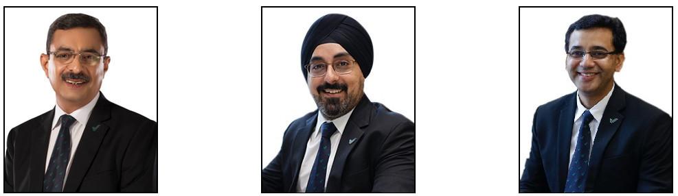 Vestige Marketing's Managing Director Gautam Bali, and Kanwar Bir Singh and Deepak Sood the directors