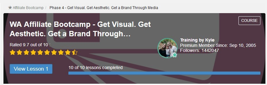 image Affiliate bootcamp Phase 4 Get visual Get Aesthetic Get a brand through media