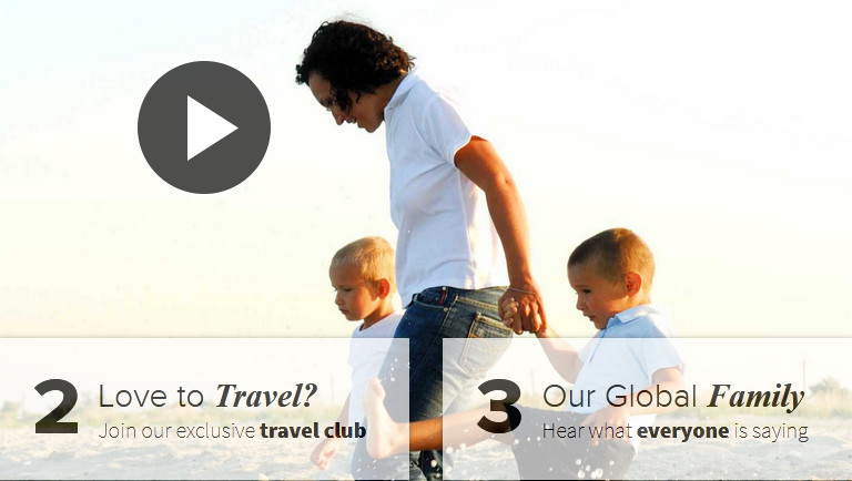 Man with two kids with words love to travel? Join ourexclusive club and Our global family Hear what everyone is sayingto signify worldventures review