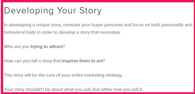 tips by HubSpot for developing a story that resonates with your audience.