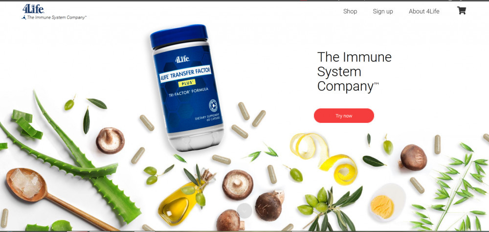 4Life's products with the words 'The immune company'