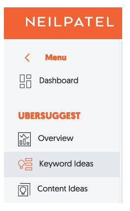 Ubersuggest dashboard