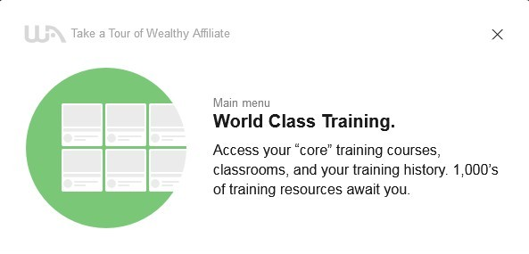 World class training gives you access to your core training courses, classrooms and training history.