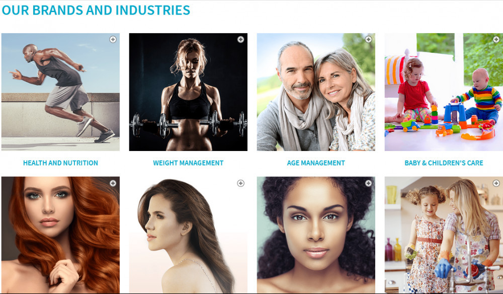 Images of people depicting Market America products such as health and nutrition, weight management, age management, baby & children's care, etc.